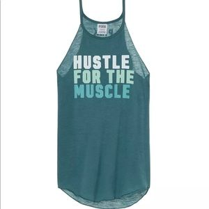 """Victoria's Secret """"Hustle for the muscle"""" tank top"""